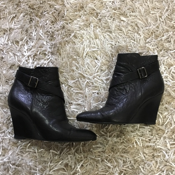 b8670cc198c Givenchy Nappa covered wedge heel ankle boots US7